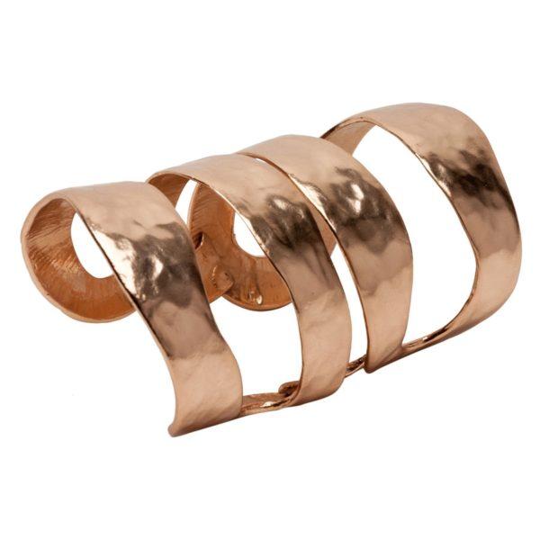KATY - B57053.50 Bracelet large doré à l'or rose fin 24 carats