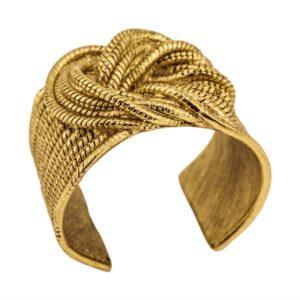 B60076.30 Bracelet doré à l'or fin 24 carats avec un noeud