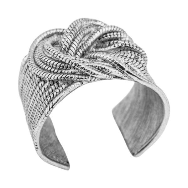 B60076.40 Bracelet argenté au 925 Sterling avec un noeud