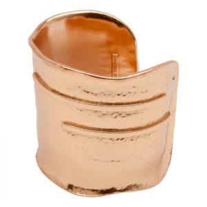 MARTINE - B50914.50 Bracelet doré à l'or rose fin 24 carats mat avec bord ondulés