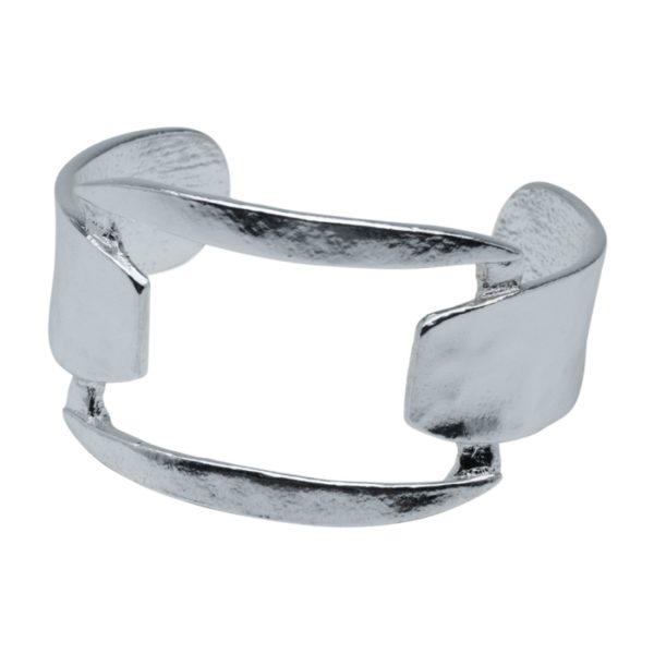CAMILLE - B60093.20 Bracelet argenté au 925 Sterling avec anneau carré