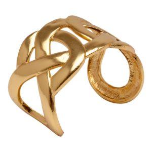 MARIE - B57050.10 Bracelet doré à l'or fin 24 carats avec chevauchement