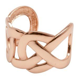 MARIE - B57050.50 Bracelet doré à l'or rose fin 24 carats avec chevauchement