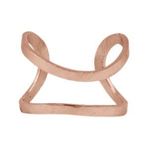 ELISE - B61045.50 Bracelet mince et ondulé doré à l'or rose fin 24 carats