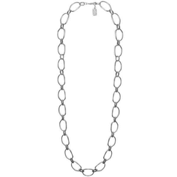 N53038.20 Collier argenté au 925 sterling avec des liens en forme de cercle