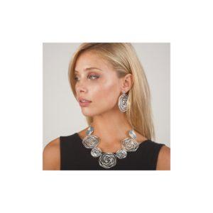 E58059.20 Boucles d'oreilles argentées au 925 sterling à pendentif tourbillonné