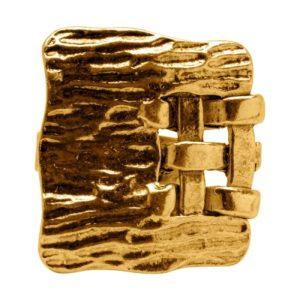 R59040.30 Bague dorée à l'or fin 24 carats martelé