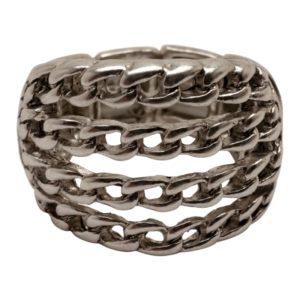 R58051.20 Bague argentée au 925 sterling avec couches fine de chaîne