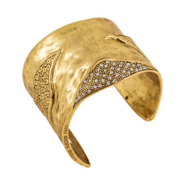B61125.31 Bracelet Cristal Oxydé doré à l'or fin 24 carats