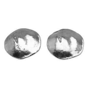 E06920.20 Boucles d'oreilles argentées au 925 sterling en forme de disque