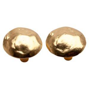 E06921.10 Boucles d'oreilles dorées à l'or fin 24 carats en forme de disque