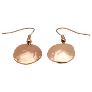 E06923.50 Boucles d'oreilles dorées à l'or rose 24 carats coquillage