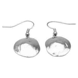 E06923.20 Boucles d'oreilles argentées au 925 sterling coquillage