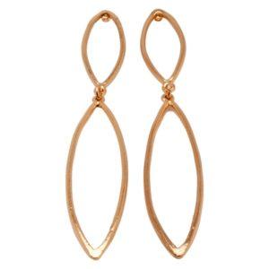 E59066.50 Boucles d'oreilles pendentif dorées à l'or fin rose 24 carats