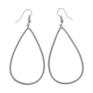 E61039.20 Boucles d'oreilles pendentif argentées au 925 sterling