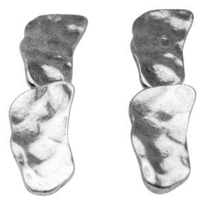 E57040.40 Boucles d'oreilles argentées au 925 sterling pendantif pavé