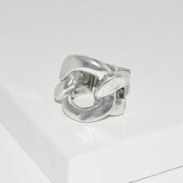 R58050.20 Bague argentée au 925 sterling anneau de chaine