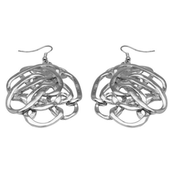 E59009.20 Boucles d'oreilles argentées au 925 sterling avec anneaux ovales