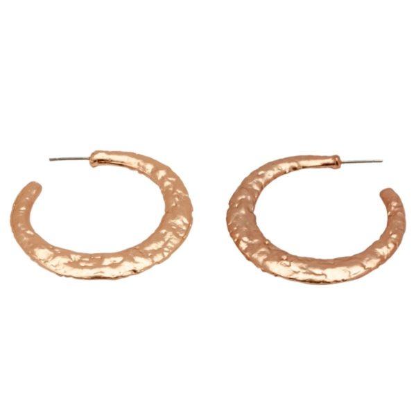 E50132.50 - Boucles d'oreilles dorées à l'or rose 24 carats oxydé