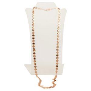 N12565.50 - Long collier doré à l'or rose fin 24 carats avec une multitude de médaillon
