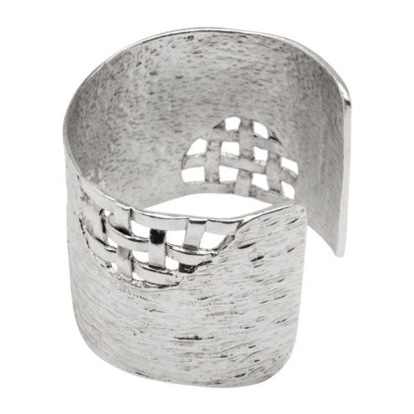 B56069.40 - Bracelet argenté au 925 Sterling avec un design tréssé