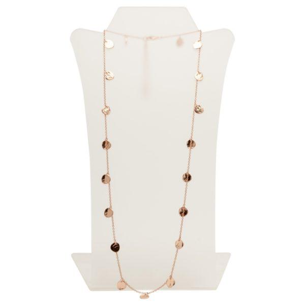 N56048.50 - Collier doré à l'or rose fin 24 carats avec des médaillons