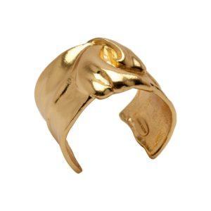 B50709.10 - Bracelet doré à l'or fin 24 carats avec un dessin d'un nœud de ruban