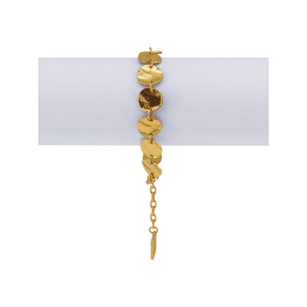 B61031.10 - Bracelet doré à l'or fin 24 carats avec des petits médaillon