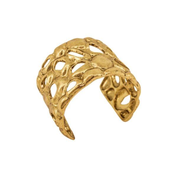 B61108.30 - Bracelet doré à l'or fin 24 carats design à pavé