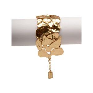 B57039.10 - Bracelet doré à l'or fin 24 carats design à pavé