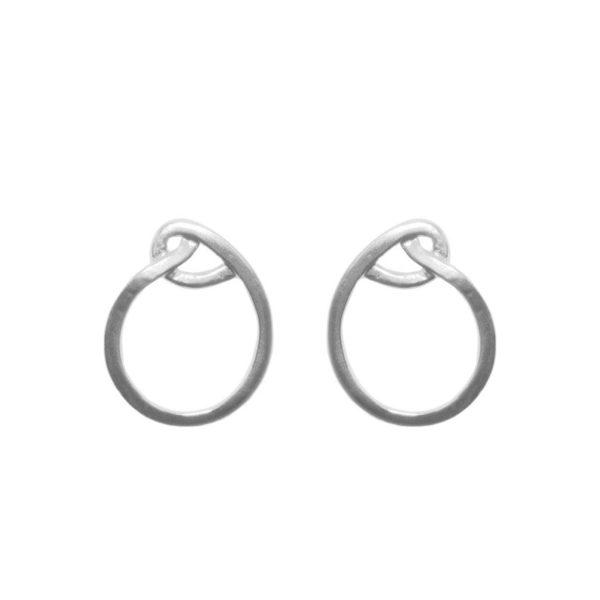 E61129.20 - Boucles d'oreille argentées au 925 sterlingdesign nœud