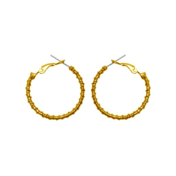 E61139.10 - Boucles d'oreille dorées à l'or fin 24 carats design goute d'eau