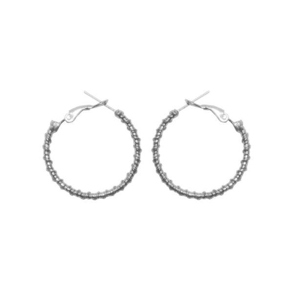 E61139.20 - Boucles d'oreille argentées au 925 sterling design goute d'eau