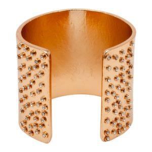 B58005.51 - Bracelet doré à l'or rose fin 24 carats couvert de cristaux blanc aux extrémités
