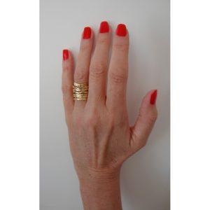 R52102.30 - Bague dorée à l'or fin 24 carats en design de tourbillon