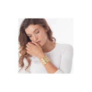 B62062.10 - Bracelet doré à l'or fin 24 carats avec un design de mailles