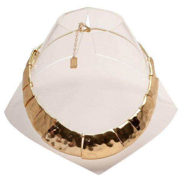 N57018.10 - Collier doré à l'or fin 24 carats de forme trapèzoidale