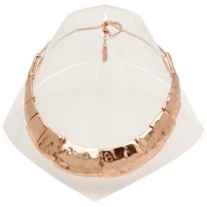N57018.50 - Collier doré à l'or rose fin 24 carats de forme trapèzoidale