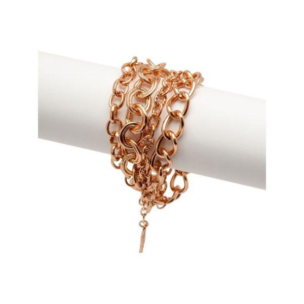 B58008.50 - Bracelet doré à l'or rose fin 24 carats avec quatre couches de chaînes