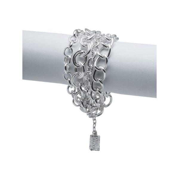 B58008.20 - Bracelet argenté au 925 Sterling avec quatre couches de chaînes