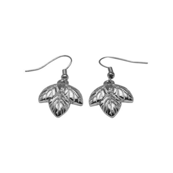 E60048.20 - Boucle d'oreille argentées au 925 sterling design 3 feuilles