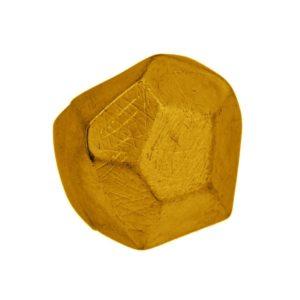 R50147.30 - Bague dorée à l'or fin 24 carats en forme de diamant découpé