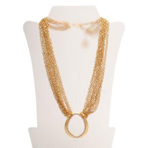 N50808.11 - Collier doré à l'or fin 24 carats avec une multitude de fines chaînettes