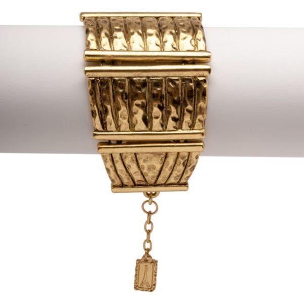 B60031.30 - Bracelet doré à l'or fin 24 carats avec un design de clôture