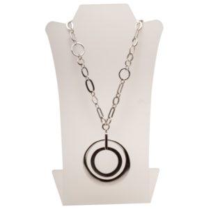 N59015.40 - Collier argenté au 925 sterling à double pendentif
