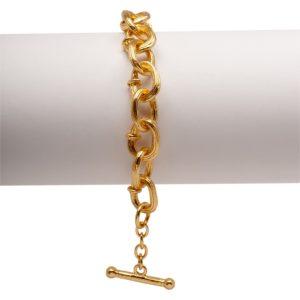 B54015.10 - Bracelet doré à l'or fin 24 carats à chaine épaisse