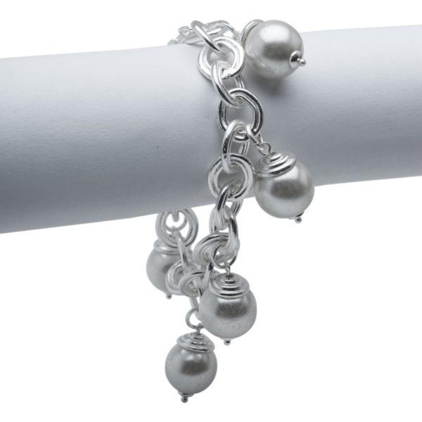B53041.22 - Bracelet argenté au 925 Sterling avec des perles de verre