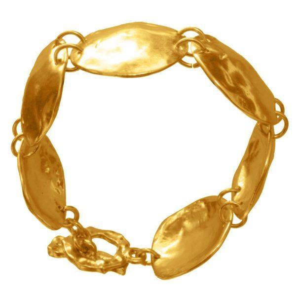 B50316.10 - Bracelet doré à l'or fin 24 carats avec un design coquillage