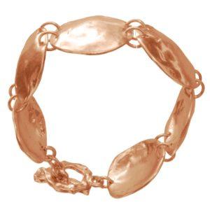 B50316.50 - Bracelet doré à l'or rose fin 24 carats avec un design coquillage