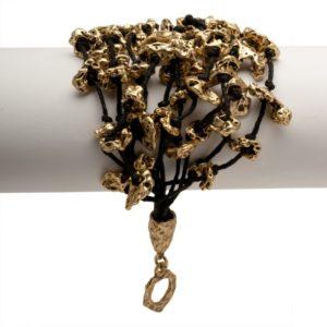B50086.30 - Bracelet doré à l'or fin 24 carats avec de nombreuses pépites